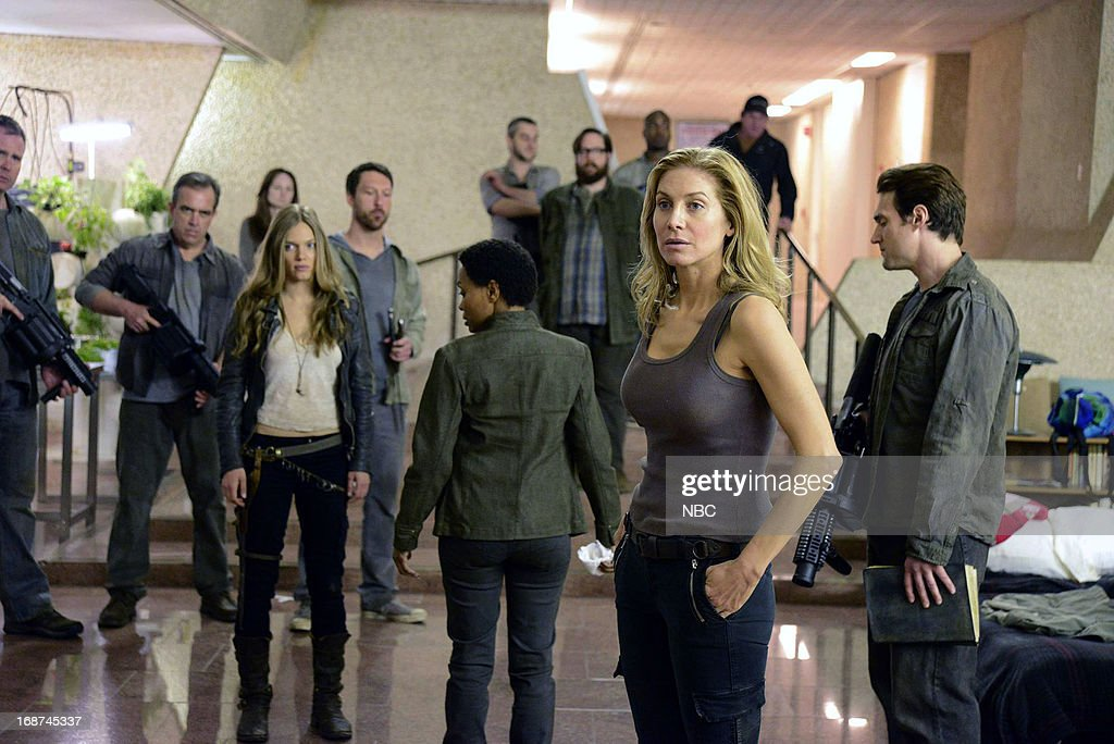 REVOLUTION -- 'Children of Men' Episode 119 -- Pictured: (l-r) <a gi-track='captionPersonalityLinkClicked' href=/galleries/search?phrase=Tracy+Spiridakos&family=editorial&specificpeople=8954855 ng-click='$event.stopPropagation()'>Tracy Spiridakos</a> as Charlie Matheson, Maria Howell as Grace Beaumont, <a gi-track='captionPersonalityLinkClicked' href=/galleries/search?phrase=Elizabeth+Mitchell&family=editorial&specificpeople=2436267 ng-click='$event.stopPropagation()'>Elizabeth Mitchell</a> as Rachel Matheson --