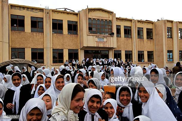 Children of the government run PuleRangeena Primary School for girls in the northwestern city of Herat Afghanistan May 6 2009 Like many other schools...