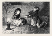 'Children Of The Great City' From The Picture By FW Lawson 1877