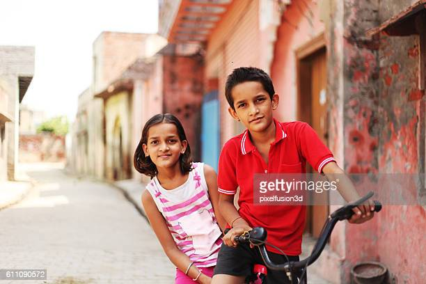 Children on bicycle