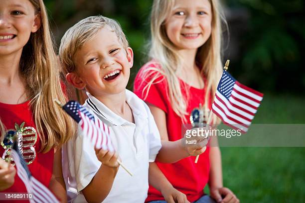 Children on Fourth of July or Memorial Day