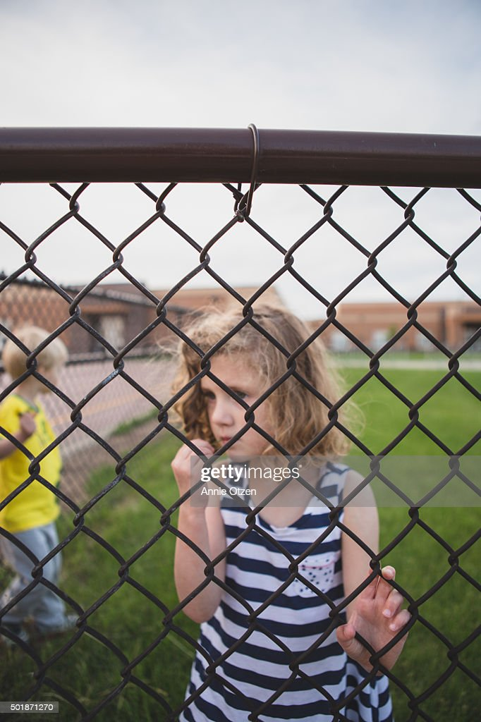Children on other side of fence