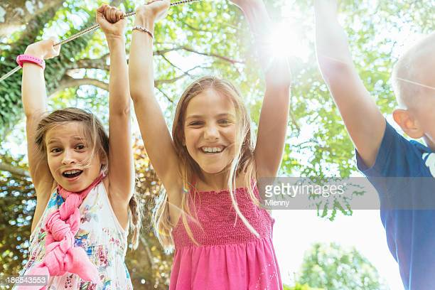 Children on Playground Having Fun