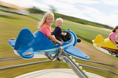 Children on ride at amusement park