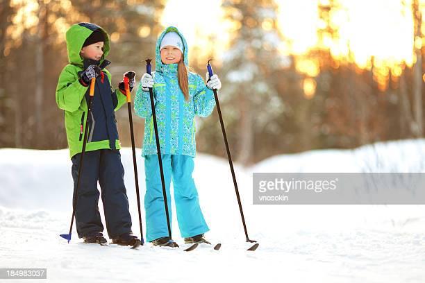 Children on ski