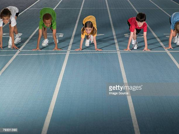 Children on starting line