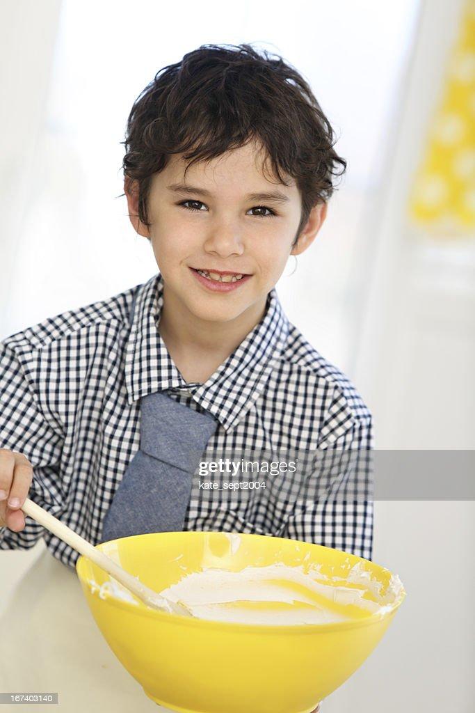 Children on the kitchen : Stock Photo