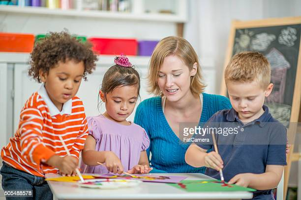 Children Painting Pictures