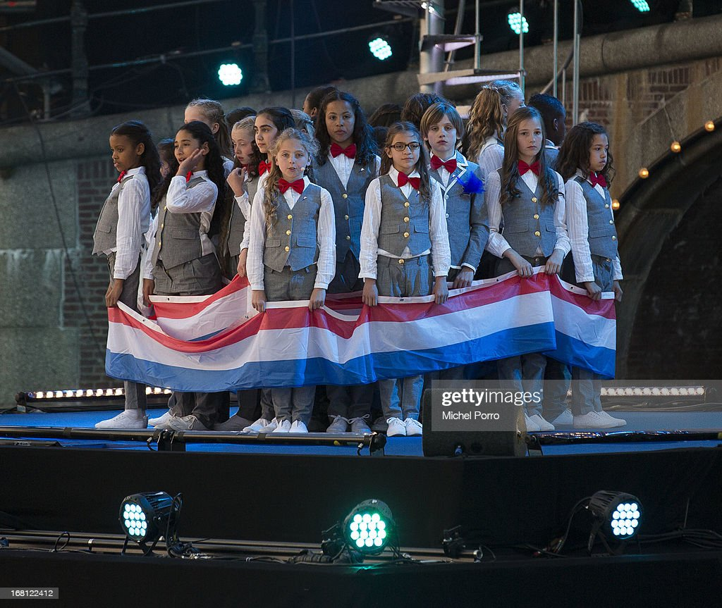 Children perform during Freedom Concert on May 5, 2013 in Amsterdam Netherlands.