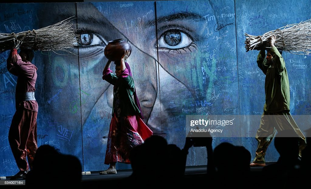 Children perform during the closing ceremony of World Humanitarian Summit is held at Istanbul Congress Center in Istanbul, Turkey on May 24, 2016.