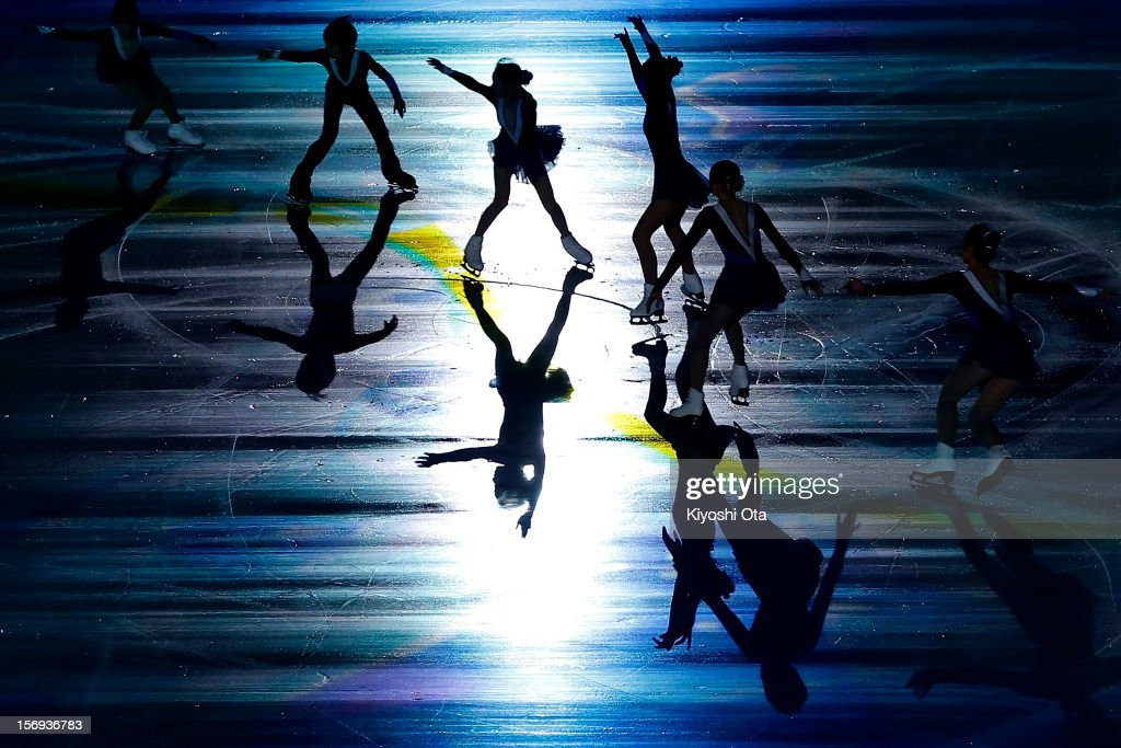 Children perform on ice for 'Thank you from Tohoku' in the Gala Exhibition during day three of the ISU Grand Prix of Figure Skating NHK Trophy at Sekisui Heim Super Arena on November 25, 2012 in Rifu, Japan.