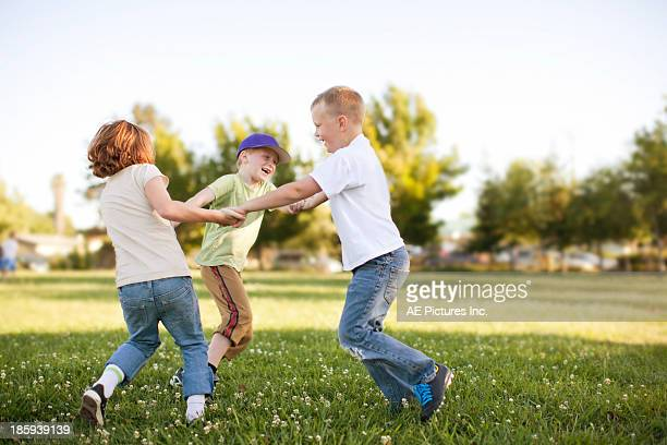 Children play at park