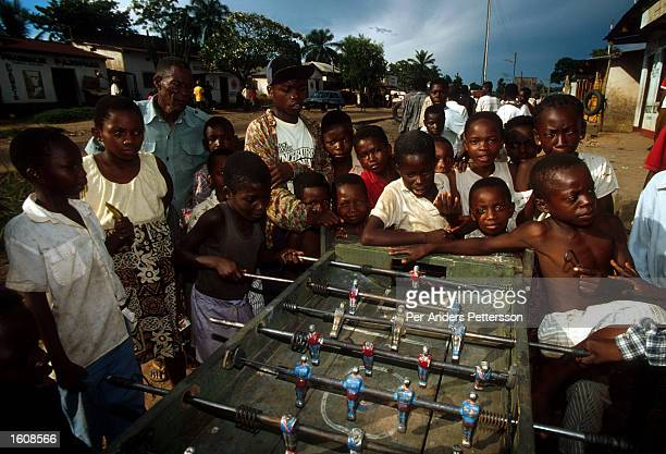 Children play foosball April 12 in Kikwit The Democratic Republic of Congo Kikvit was the center of an Ebola outbreak in 1995 where hundreds of...