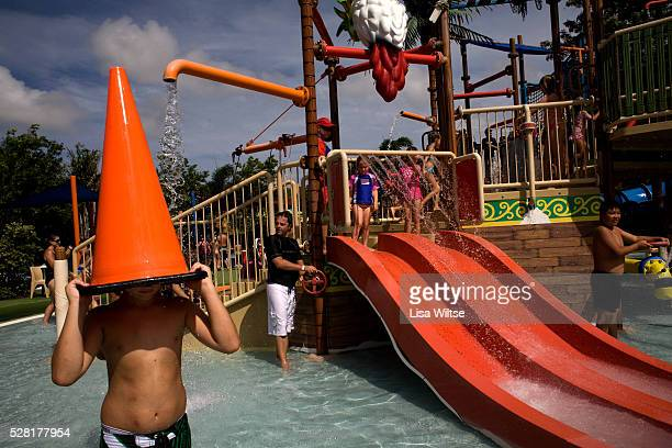 Children play in Buccaneer Bay at the Wet n' Wild theme park in the Gold Coast Australia on January 22 2009 Photo by Lisa Wiltse