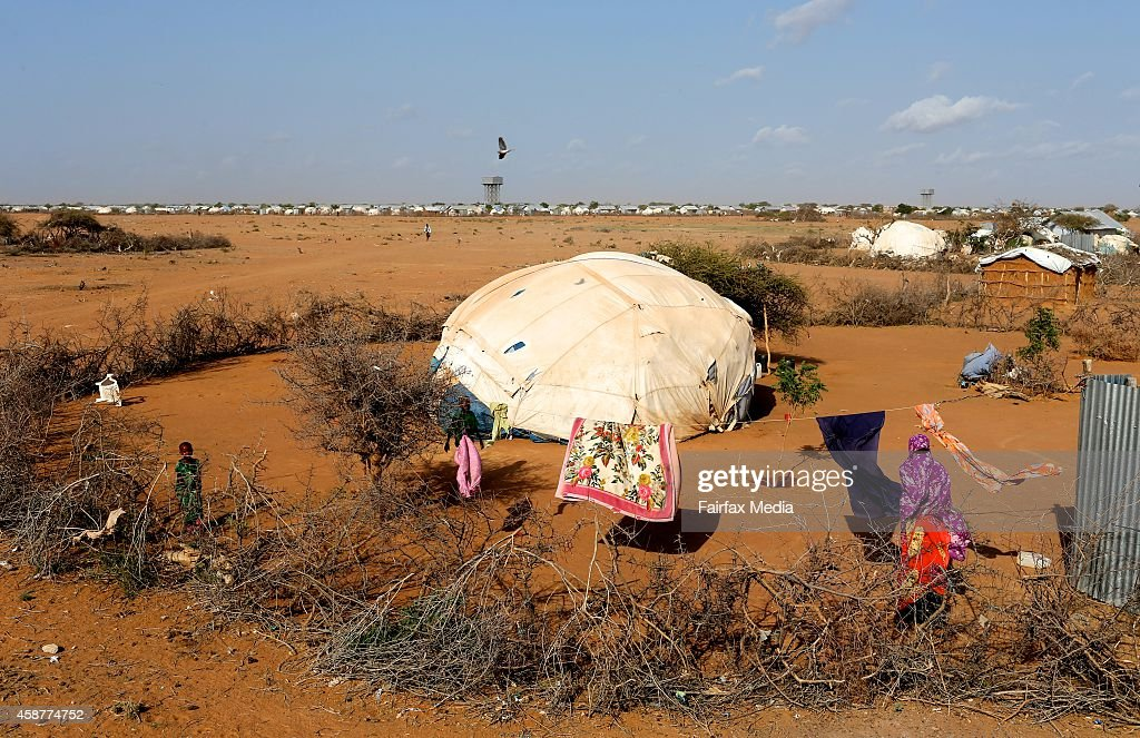 Children play outside their home in the Dadaab refugee camp in Kenya July 14 2014 This is the worlds largest refugee camp with a population of 355000...