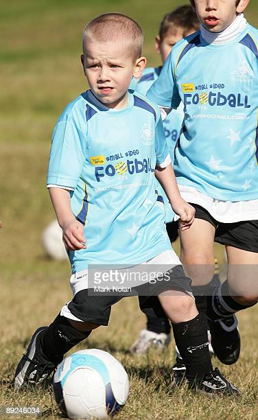 Children play soccer as a part of the Optus Small Sided Football program announcment between Football Federation Australia and Optus at Heffron Park...