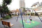 Children playground in the Tokyo city, Japan