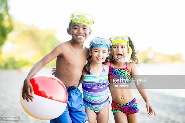 Children Playing at the Lake