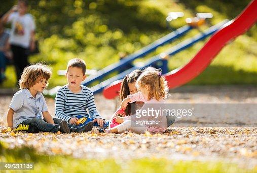 Children playing at the playground.
