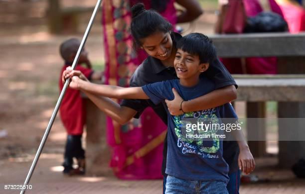 Children playing during Makkala Hanna Children Festival at Cubbon Park on November 12 2017 in Bengaluru India Karnataka government organised children...