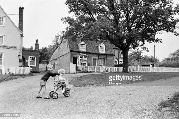 Children playing in Greenstead Green Essex 16th June 1963