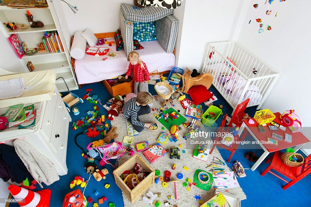 Children playing in messy nursery