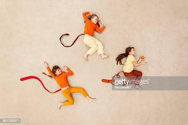 Children playing monkeys