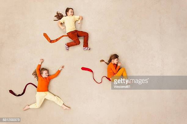 Children playing monkeys