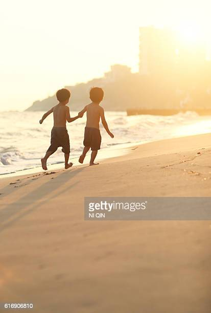 Children playing on the beach