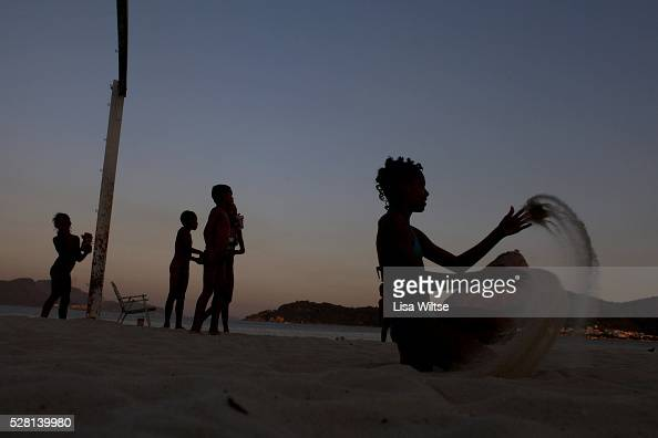 Children playing soccer on Flamengo beach on July 15 2010 Photo by Lisa Wiltse