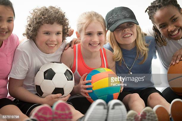 Children Playing Sports Together