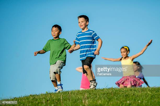 Children Playing Tag
