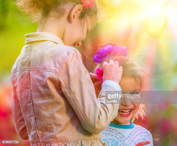 Children playing together outdoors