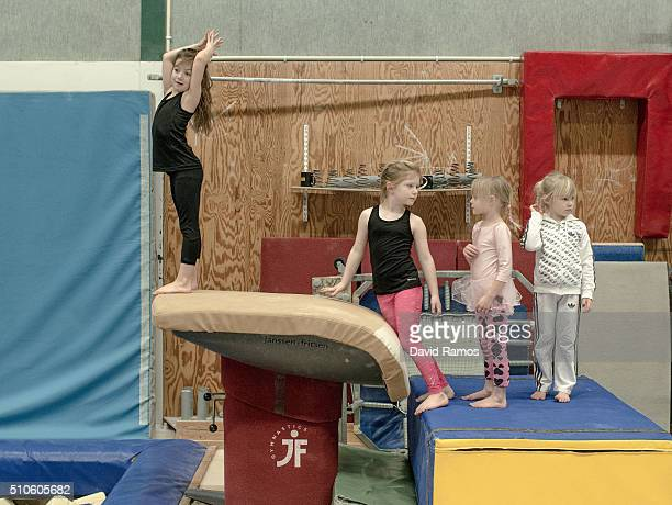 Children practise gymnastics on February 7 2016 in Halmstad Sweden Last year Sweden received 162877 asylum applications more than any European...