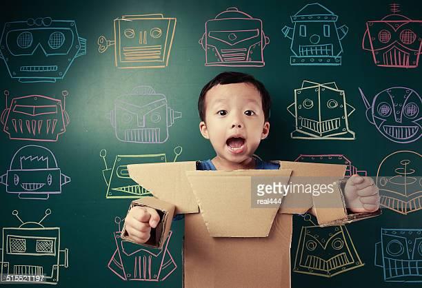 children pretend robot