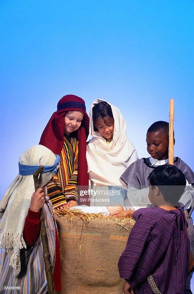 Children Reenacting Nativity