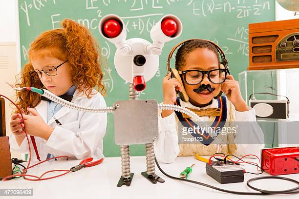 Children: Retro revival scientists.  Electronics and broadcaster.