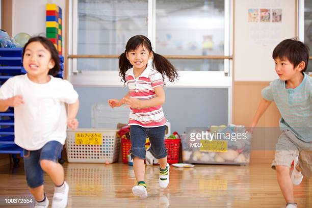 Children Running at Day-care Center