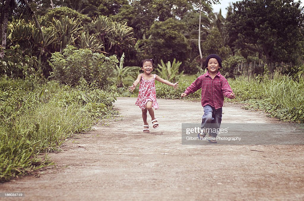 Children running : Stock Photo