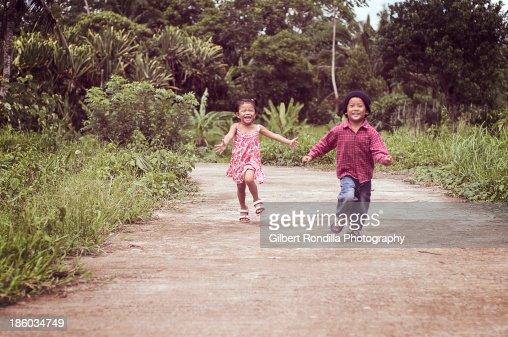 Children running : Stock Photo