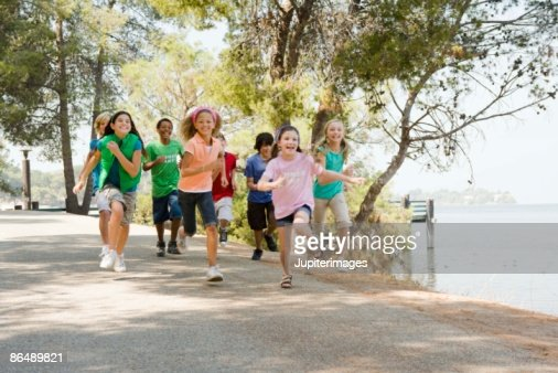 Children running : Foto de stock