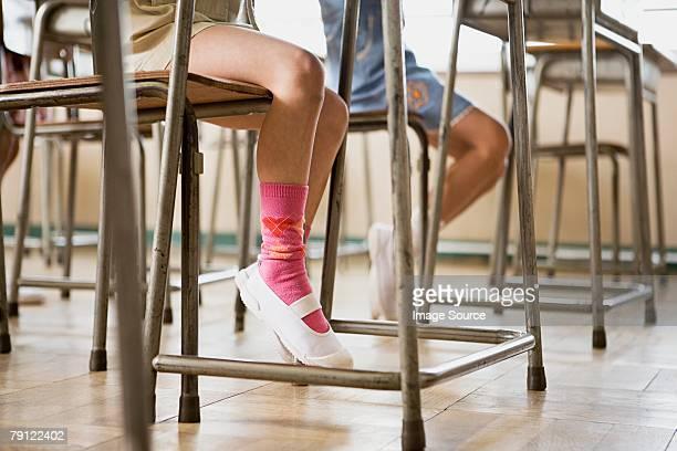 Children sat at desks