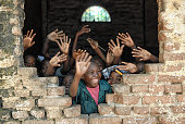 Children say hello from african school