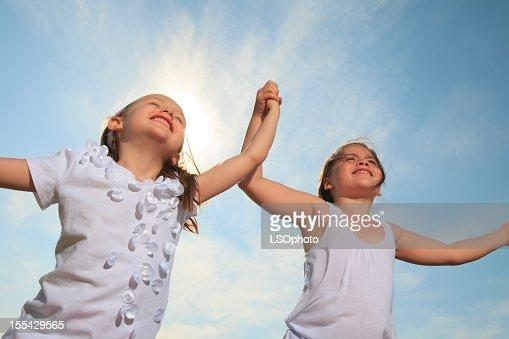 Crianças céu-Running