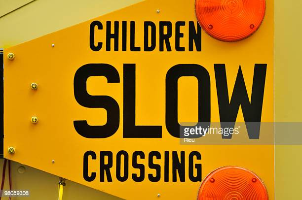 Children slow crossing