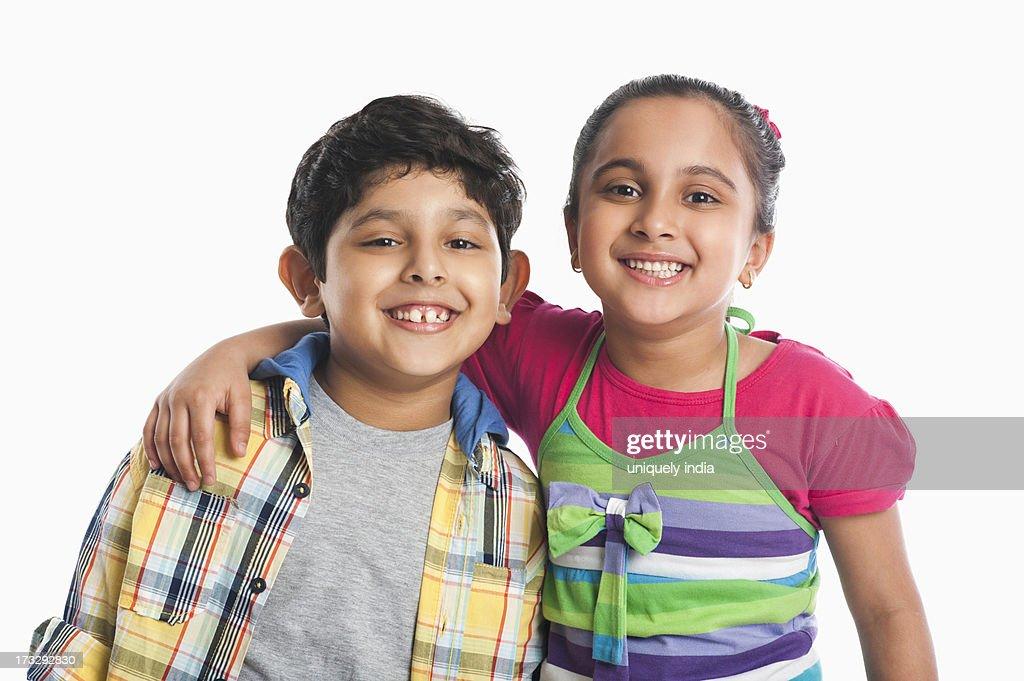 Children smiling : Stock Photo