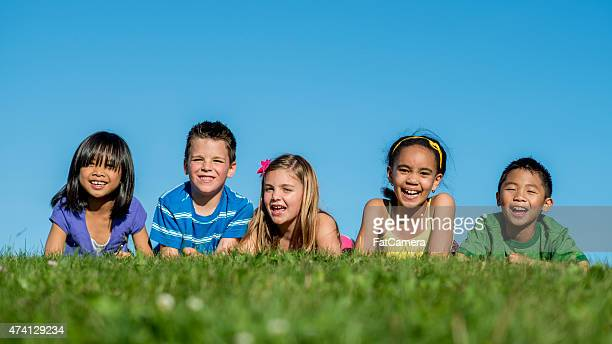 Children Smilng at the Park