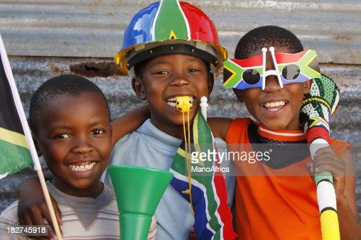 Children soccer fans South Africa
