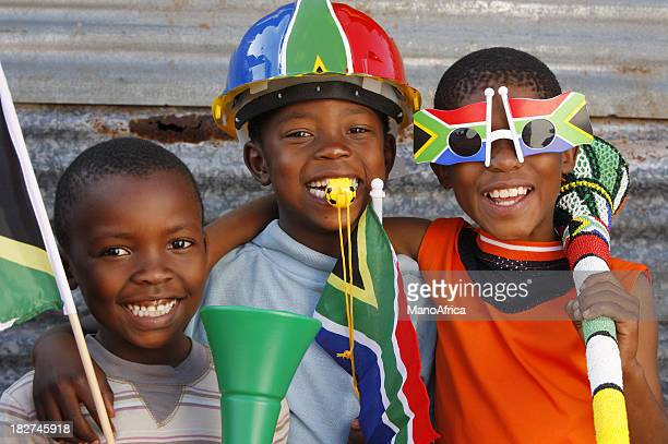 Children soccer fans South Africa