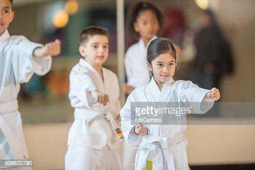 Children Standing in Formation